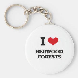 Chaveiro Eu amo florestas da sequóia vermelha