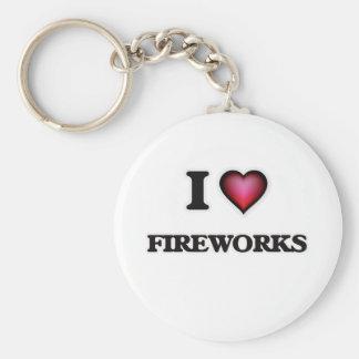 Chaveiro Eu amo fogos-de-artifício