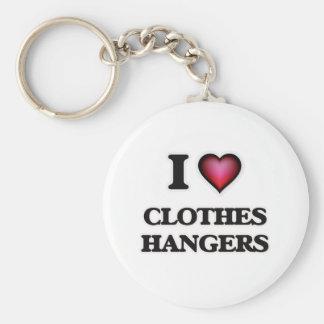 Chaveiro Eu amo ganchos de roupa