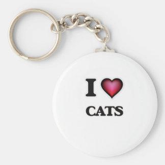 Chaveiro Eu amo gatos