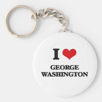 Chaveiro Eu amo George Washington