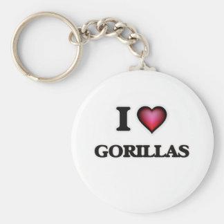 Chaveiro Eu amo gorila