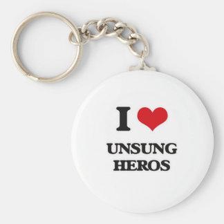 Chaveiro Eu amo heróis desconhecido