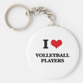 Chaveiro Eu amo jogadores de voleibol