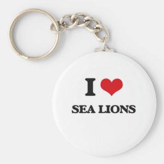 Chaveiro Eu amo leões de mar