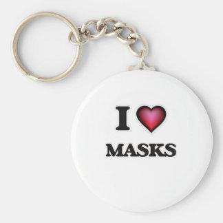 Chaveiro Eu amo máscaras