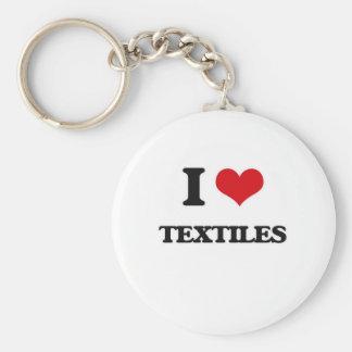 Chaveiro Eu amo matérias têxteis