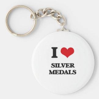 Chaveiro Eu amo medalhistas de prata