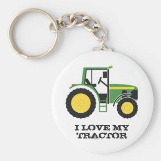 Chaveiro Eu amo meu anel chave do trator verde