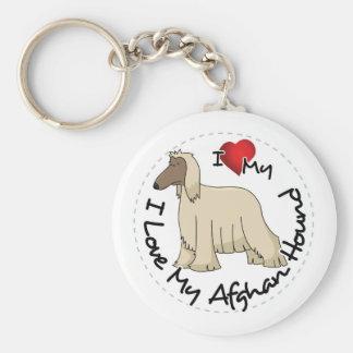 Chaveiro Eu amo meu cão de galgo afegão
