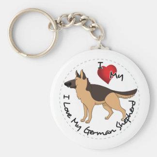 Chaveiro Eu amo meu cão de german shepherd