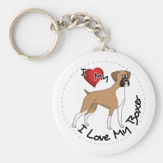 Chaveiro Eu amo meu cão do pugilista