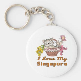 Chaveiro Eu amo meu Singapura
