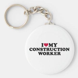 Chaveiro Eu amo meu trabalhador da construção