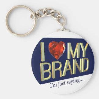 Chaveiro Eu amo minha corrente chave da marca
