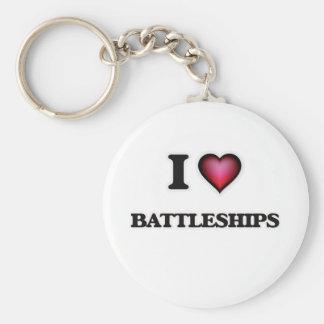 Chaveiro Eu amo navios de guerra
