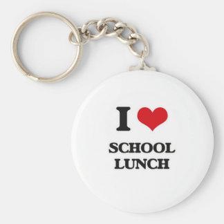 Chaveiro Eu amo o almoço escolar