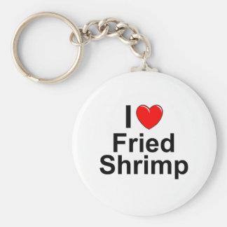 Chaveiro Eu amo o camarão fritado coração