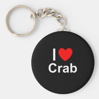 Chaveiro Eu amo o caranguejo do coração