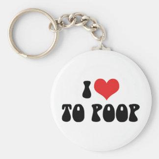 Chaveiro Eu amo o coração ao tombadilho - fibra do toalete