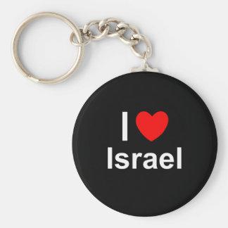 Chaveiro Eu amo o coração Israel