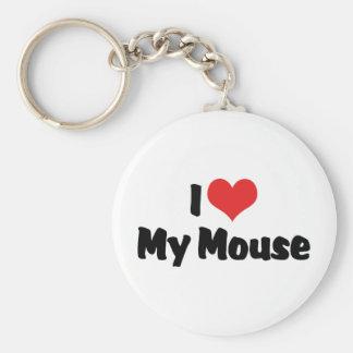 Chaveiro Eu amo o coração meu rato
