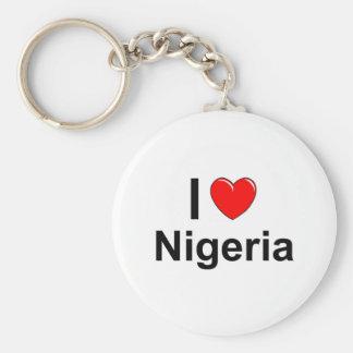 Chaveiro Eu amo o coração Nigéria