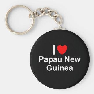 Chaveiro Eu amo o coração Papau Nova Guiné