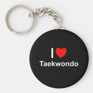 Chaveiro Eu amo o coração Taekwondo