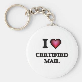 Chaveiro Eu amo o correio certificado