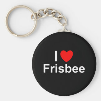Chaveiro Eu amo o Frisbee do coração