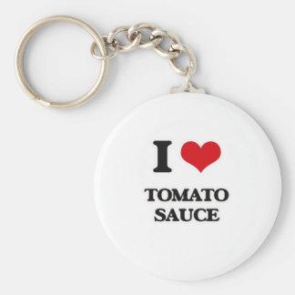 Chaveiro Eu amo o molho de tomate