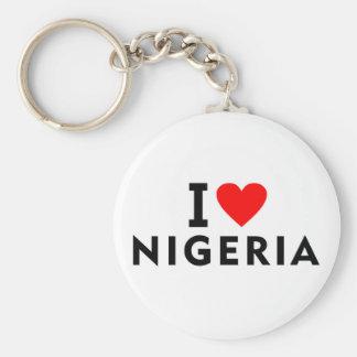 Chaveiro Eu amo o país de Nigéria como o turismo do viagem