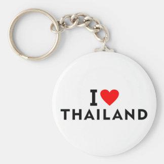 Chaveiro Eu amo o país de Tailândia como o turismo do