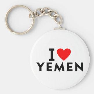 Chaveiro Eu amo o país de Yemen como o turismo do viagem do