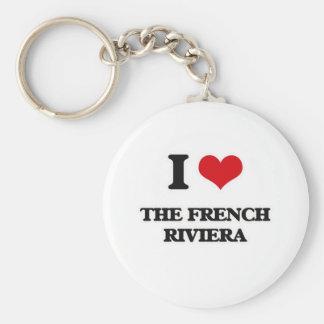 Chaveiro Eu amo o Riviera francês