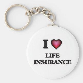 Chaveiro Eu amo o seguro de vida