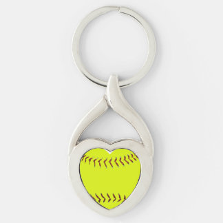Chaveiro Eu amo o softball