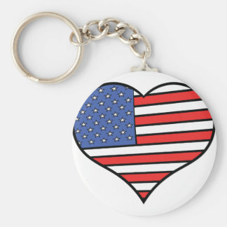 Chaveiro Eu amo orgulho de América - os Estados Unidos da