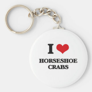 Chaveiro Eu amo os caranguejos em ferradura