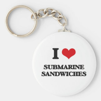 Chaveiro Eu amo os sanduíches submarinos