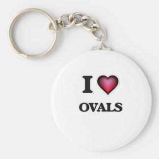 Chaveiro Eu amo Ovals