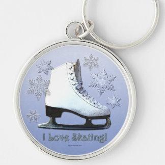 Chaveiro Eu amo patinar