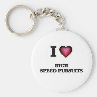Chaveiro Eu amo perseguições de alta velocidade