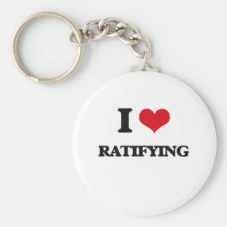 Chaveiro Eu amo ratificar