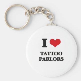 Chaveiro Eu amo salas de estar do tatuagem