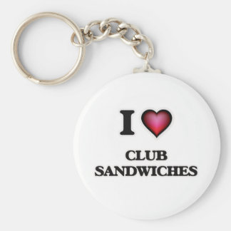 Chaveiro Eu amo sanduíches de clube