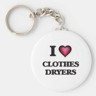 Chaveiro Eu amo secadores de roupa