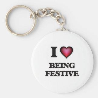 Chaveiro Eu amo ser festivo