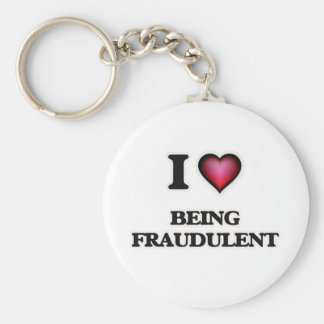 Chaveiro Eu amo ser fraudulento